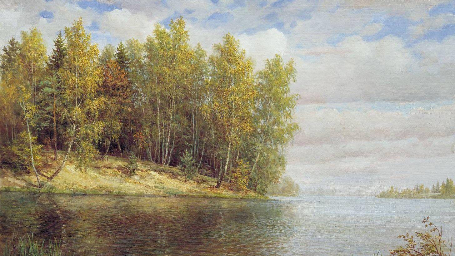 Владимир Никонов. «Прозрачный воздух осени» (фрагмент). 1949