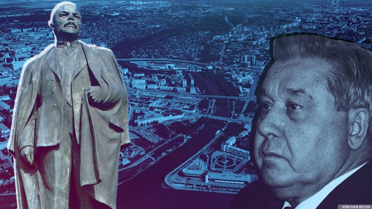 Полежаев и памятник Ленину в Омске