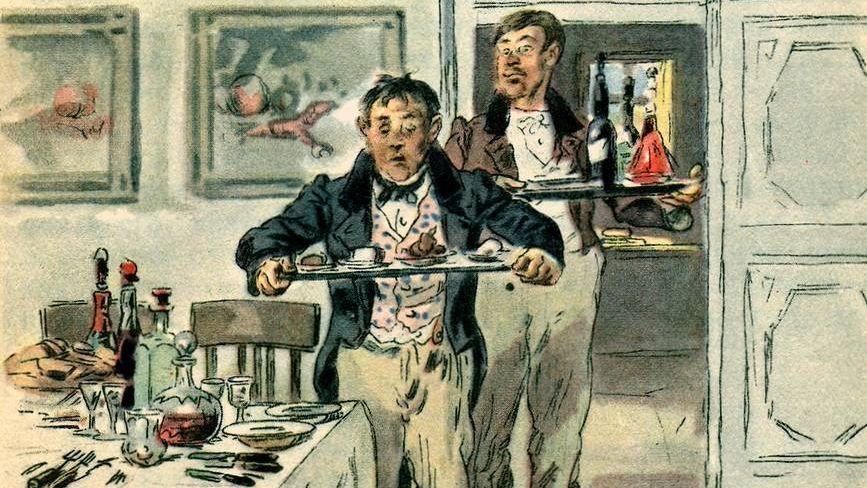 Владимир Маковский. Иллюстрация к произведению Гоголя «Мертвые души».1901