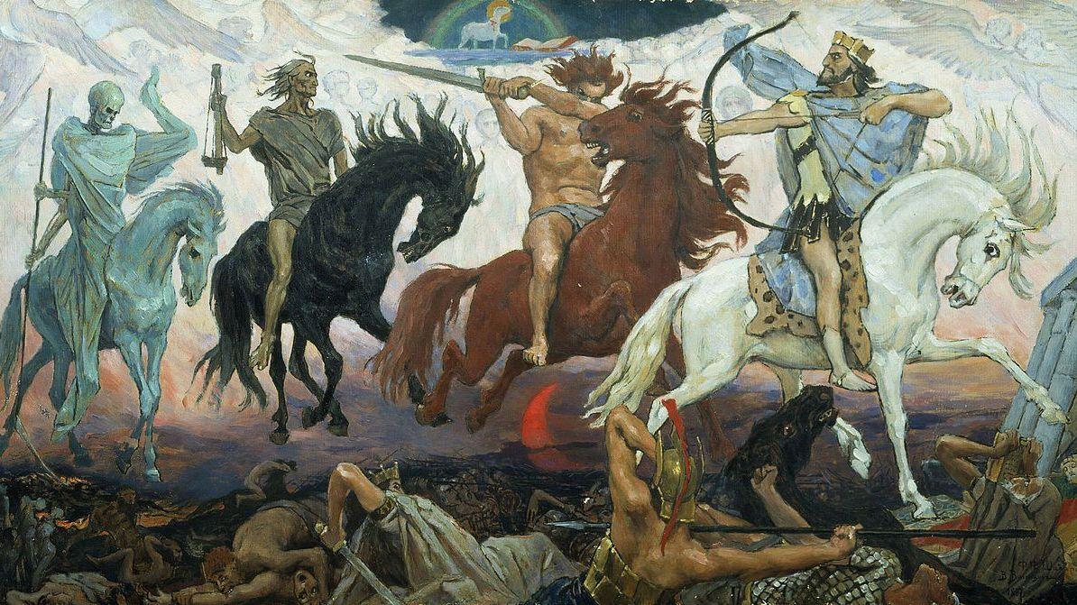 В.М. Васнецов. Воины Апокалипсиса. 1887 г.
