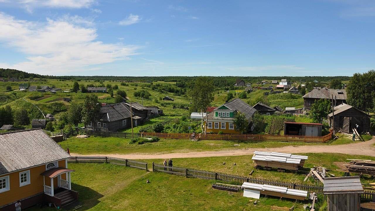 Деревня Нёнокса. Архангельская область