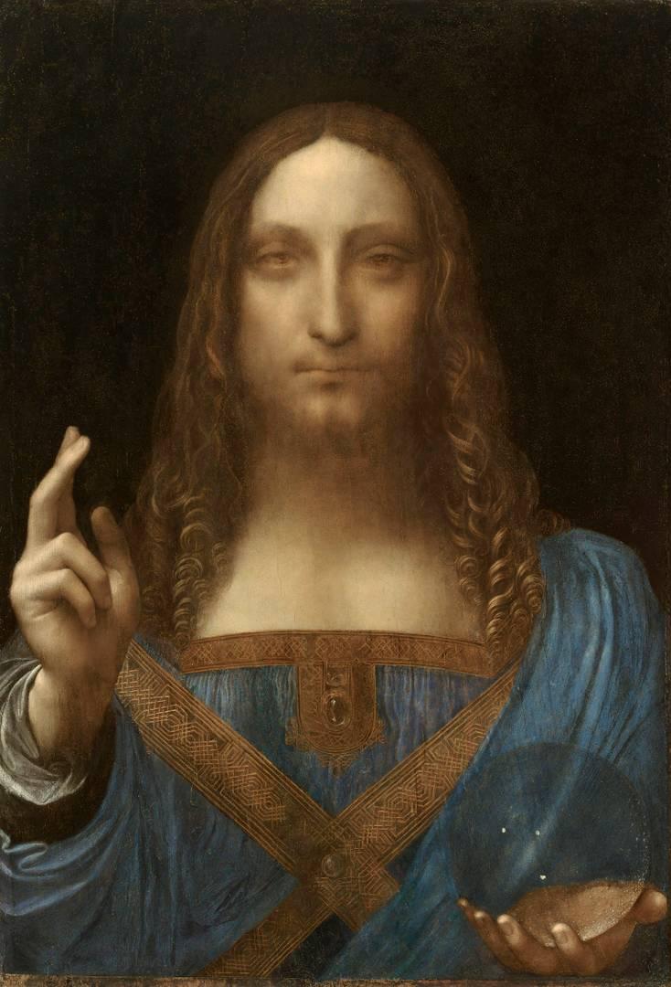 Леонардо да Винчи. Спаситель мира. Около 1499