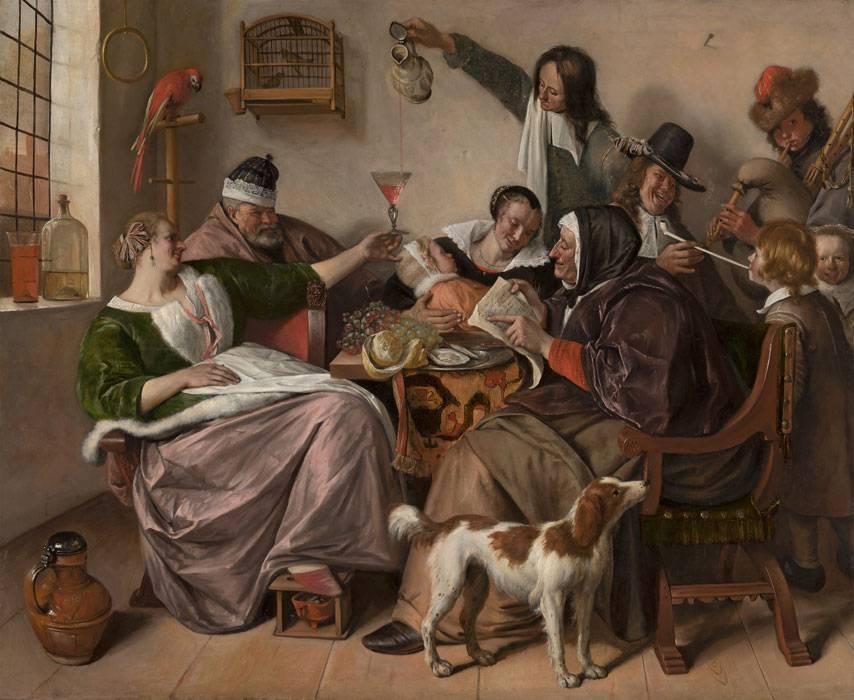 Ян Стен. Как старики поют, так молодые играют. 1668-1670