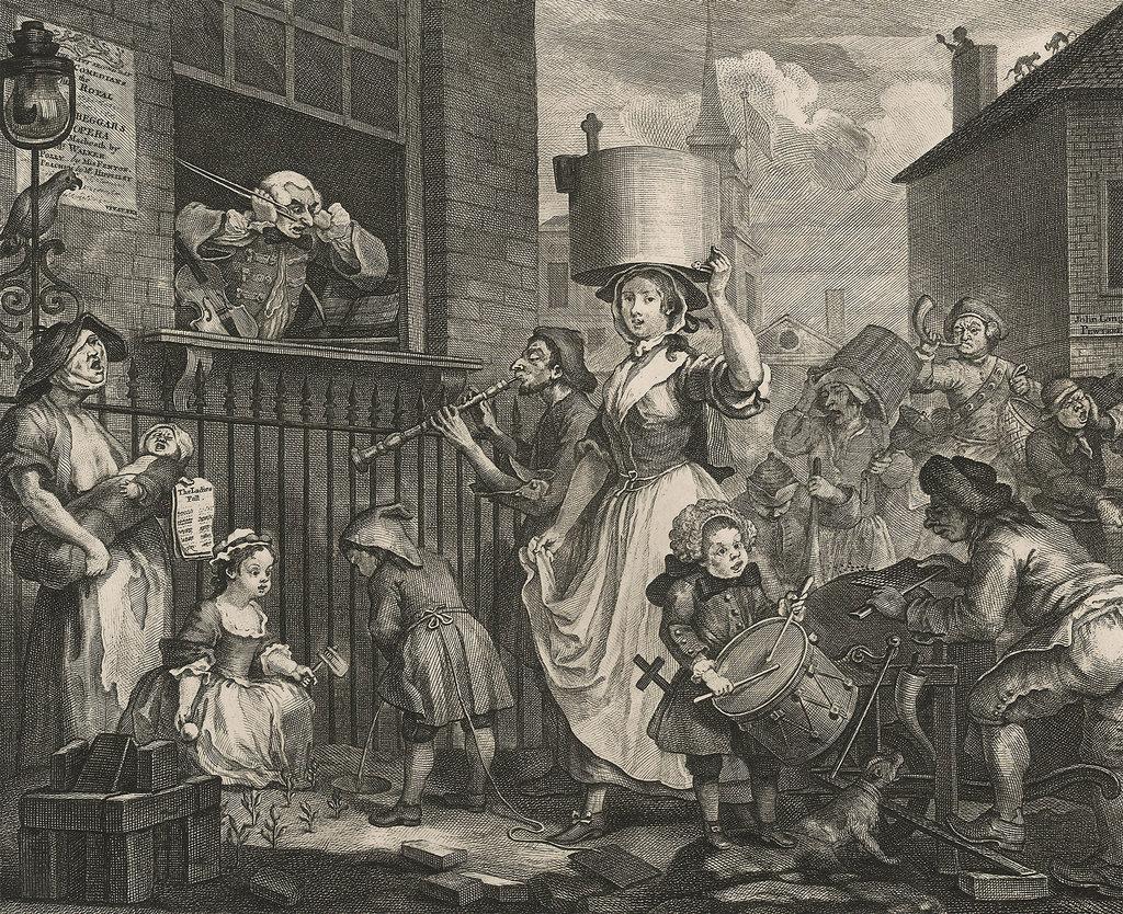 Уильям Хогарт. Взбешенный музыкант. 1741 г.