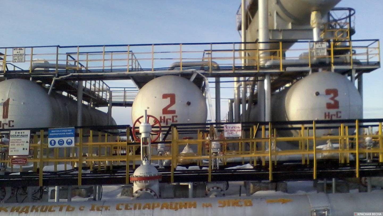 Каскад сепараторов нефти.