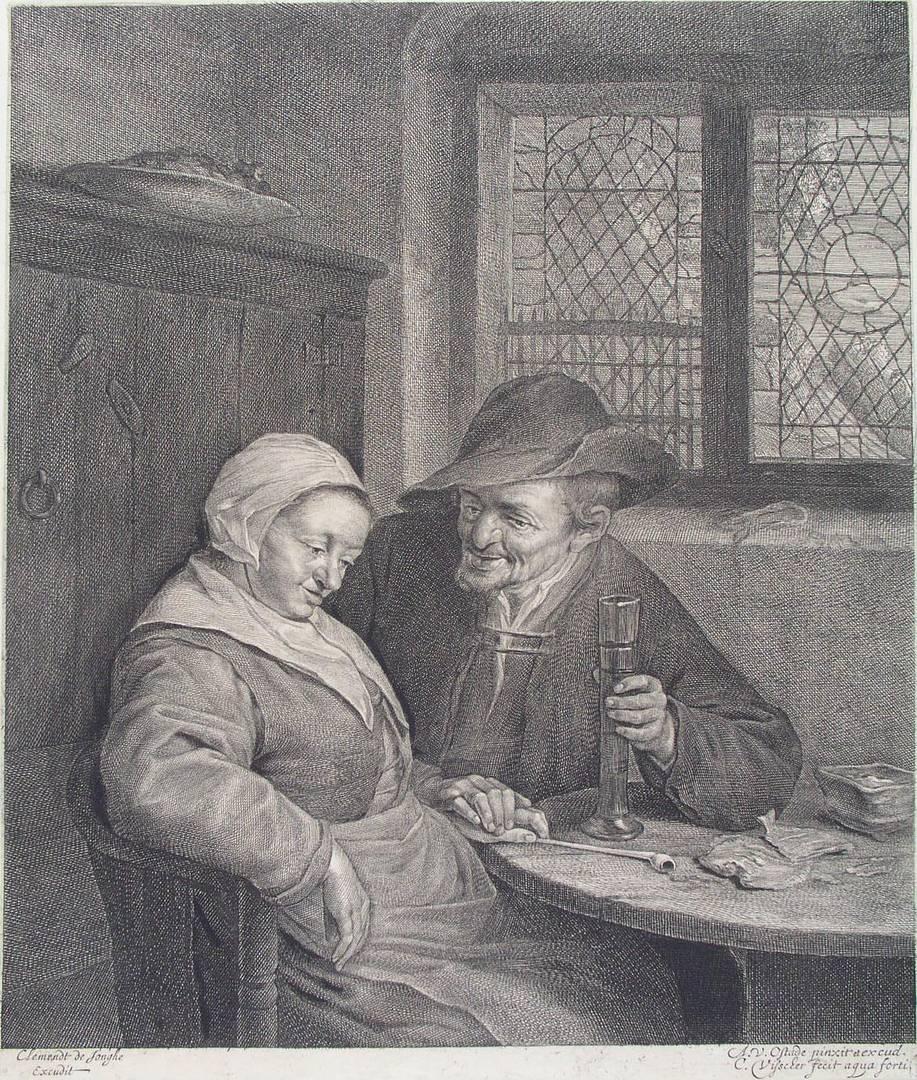 Адриан ван Остаде. Беседа