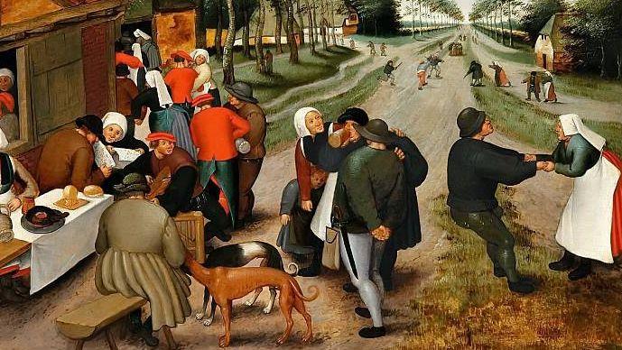 Питер Брейгель Младший. У таверны. XVI век