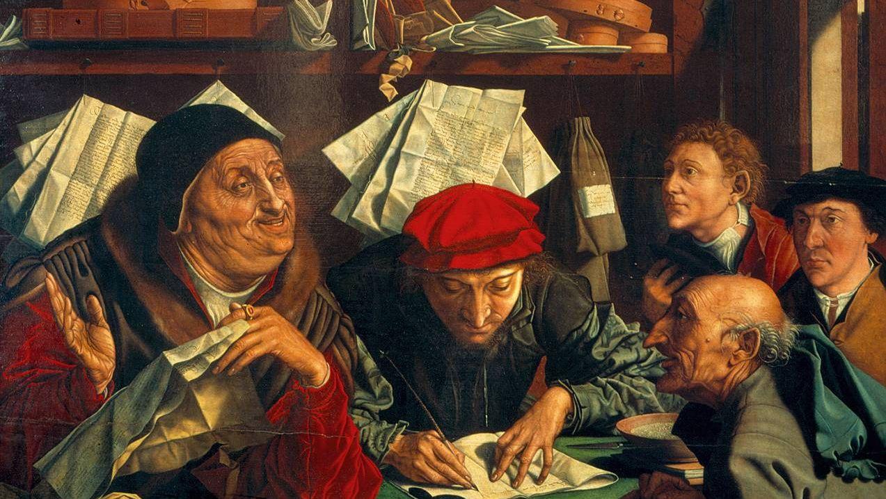 Маринус ван Реймерсвале. Сборщики налогов (фрагмент). 1542