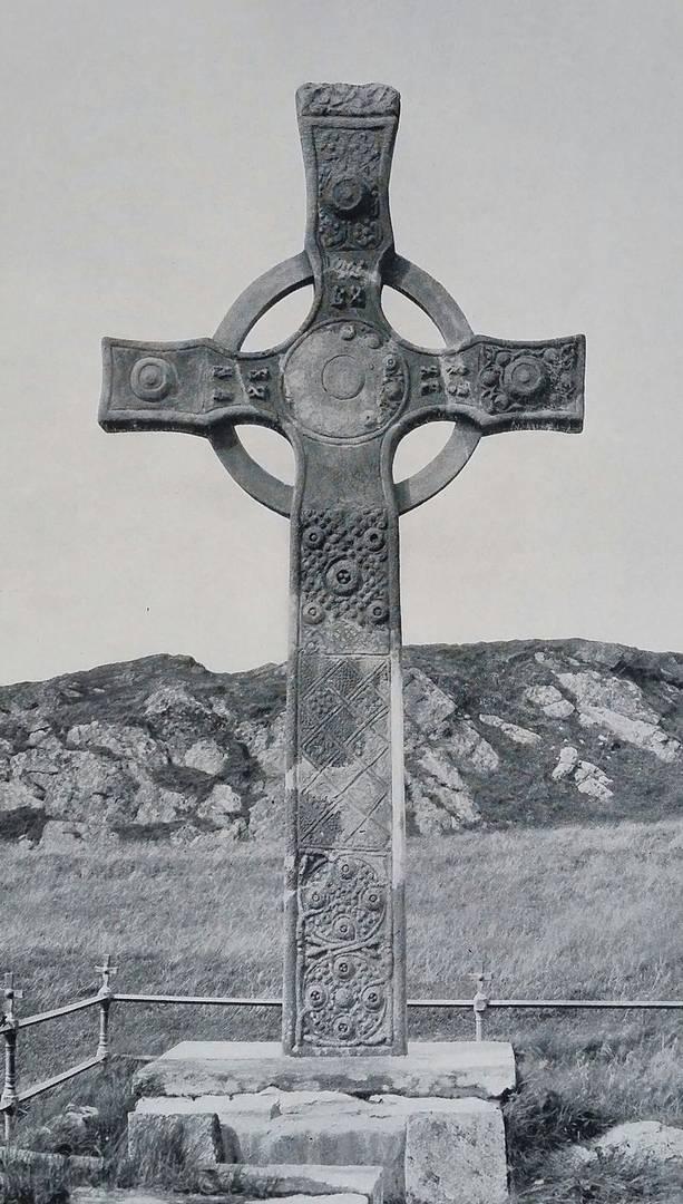 Кельтский крест. Иллюстрация из книги «Кресты и культура Ирландии» Артура Кингсли Портера