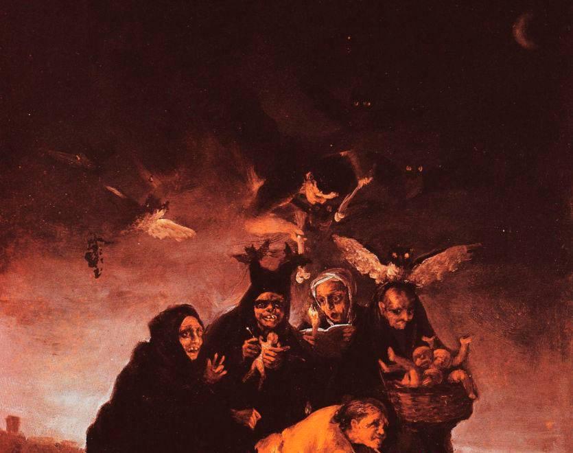 Франсиско Гойя. Заклинание (фрагмент). 1798