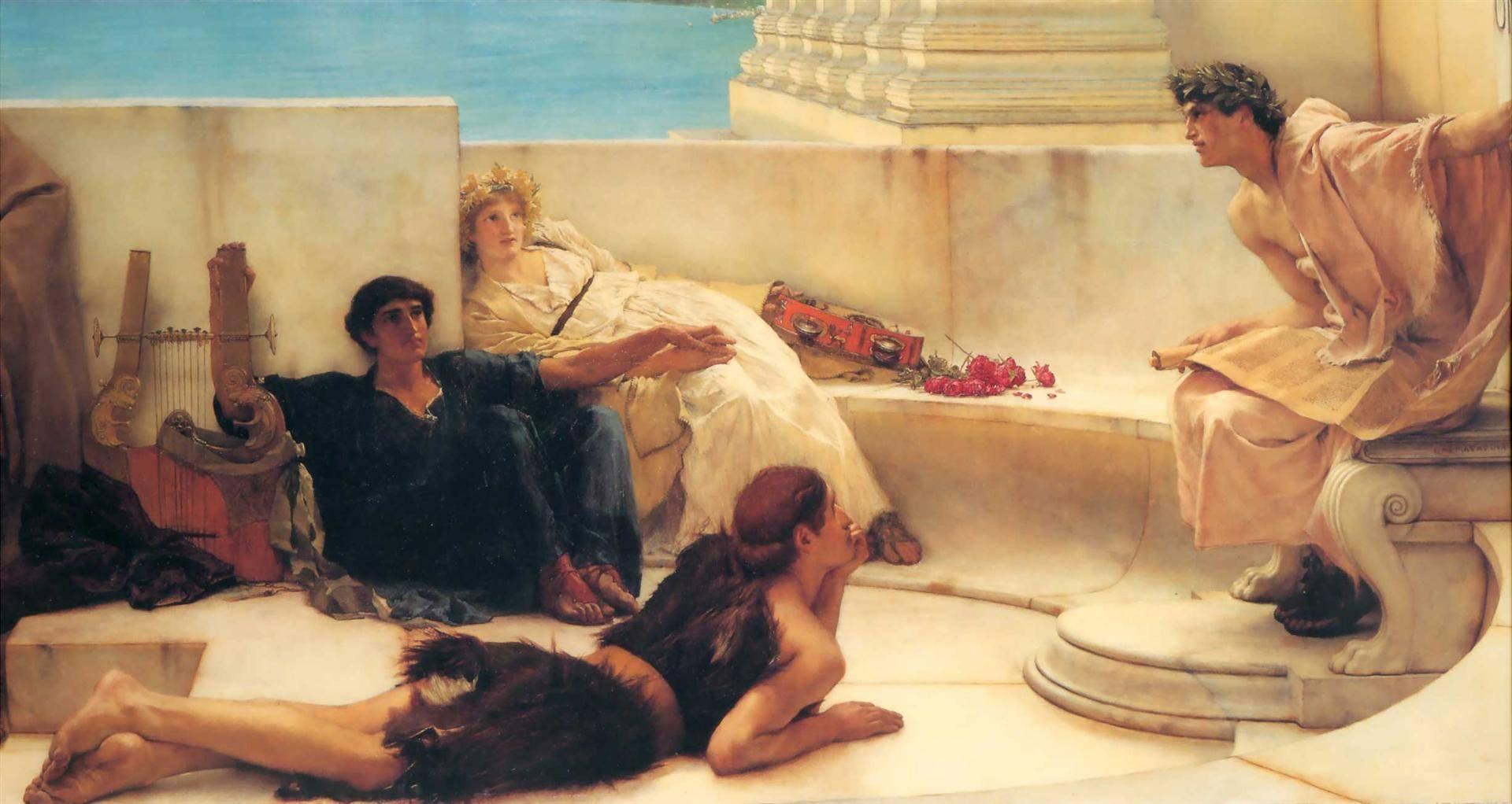 Лоуренс Альма-Тадема. Чтение Гомера. 1885