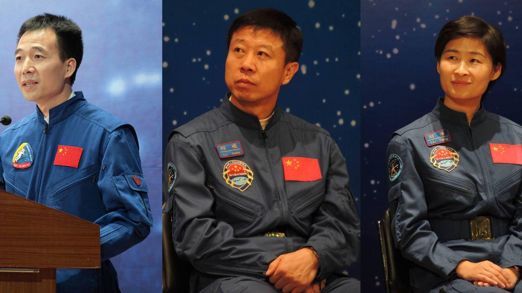Китайские космонавты Экипаж космического корабля Shenzhou 9