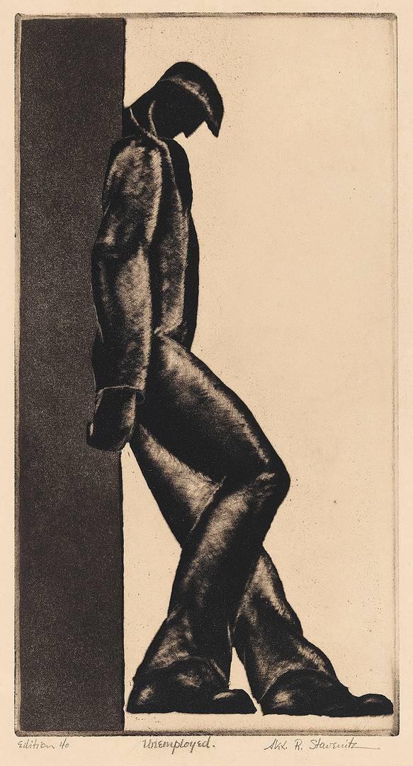 Александр Ставенитц. Безработный. 1930