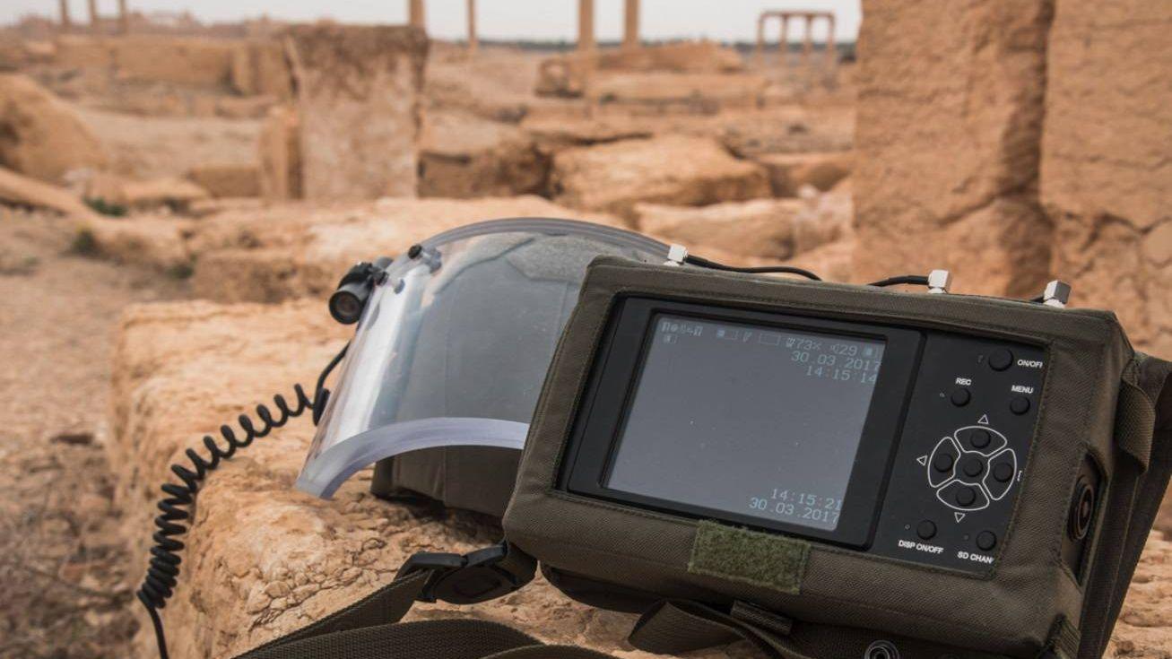 Использование военными инженерами МПЦ ВС РФ новейших инженерных средств при разминировании Пальмиры (Сирийская Арабская Республика)