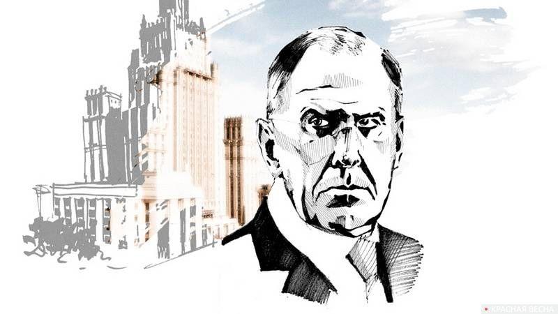 Рисунок министр иностранных дел РФ Сергей Лавров