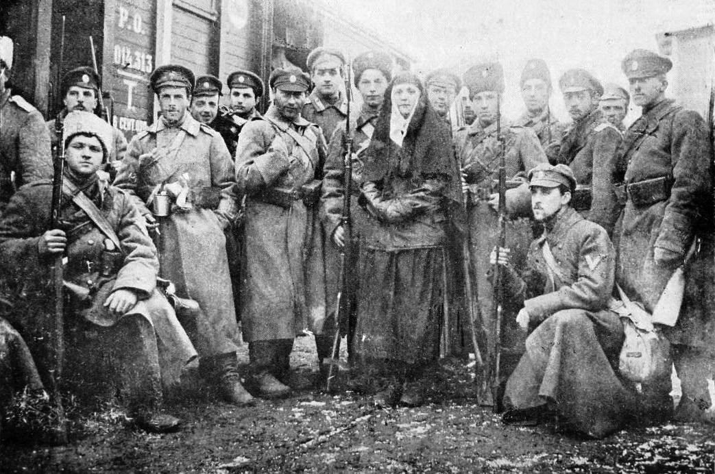 Пехотная рота Добровольческой армии. Январь 1918