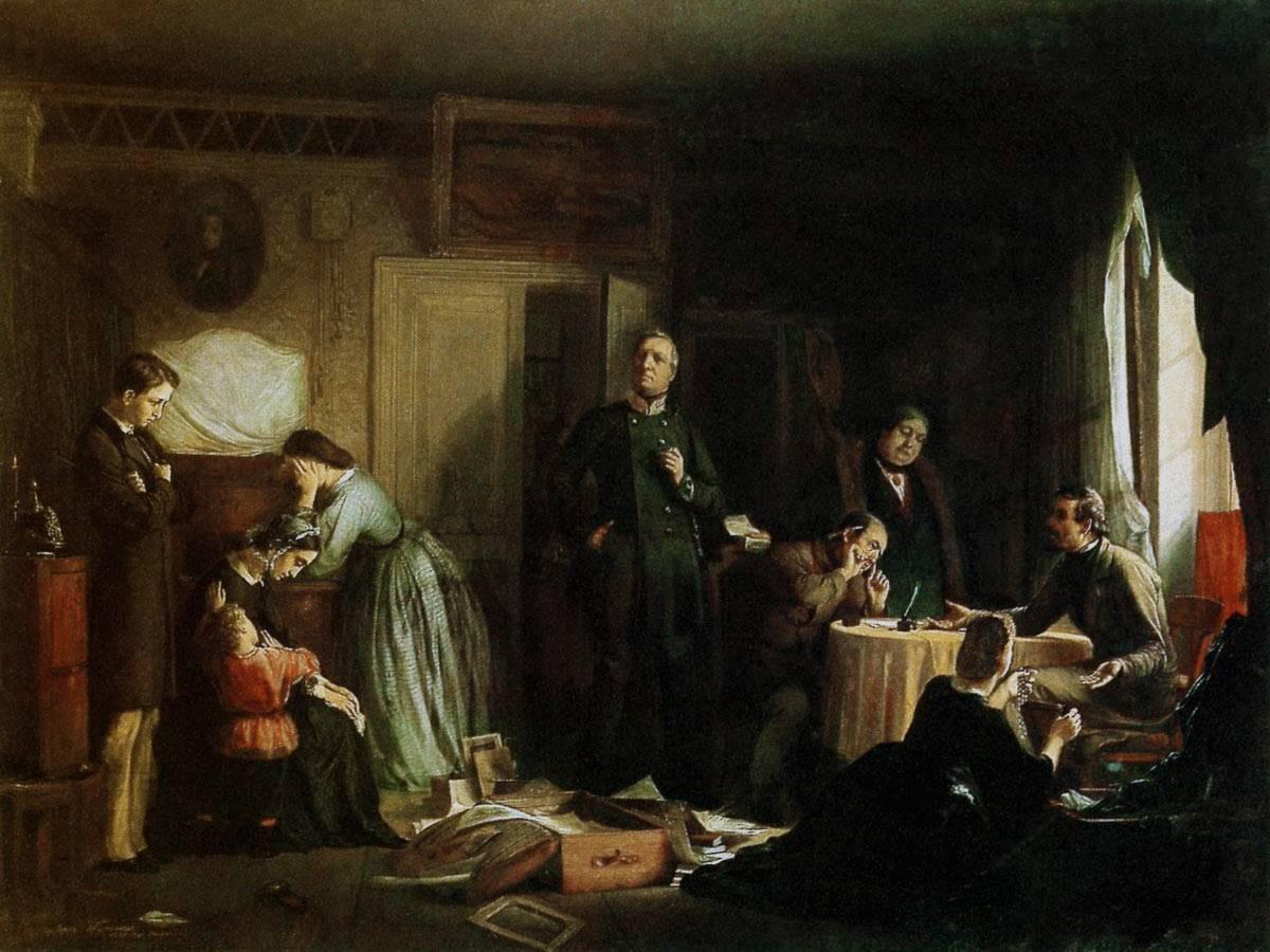 Фирс Журавлев. Кредитор описывает имущество вдовы. 1862