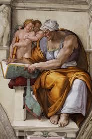 Микеланджело. Кумская сивилла. Фреска из Сикстинской капеллы. 1508—1512