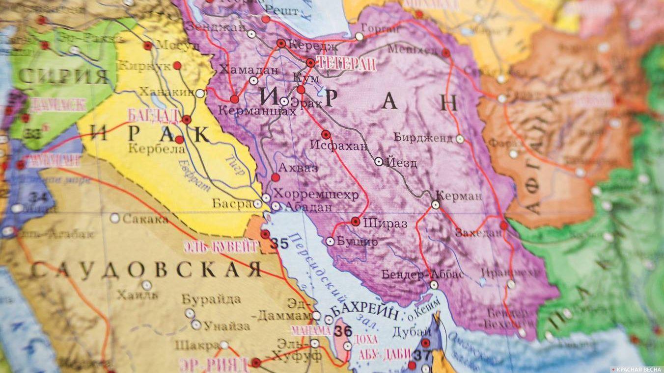 Иран Карта мир