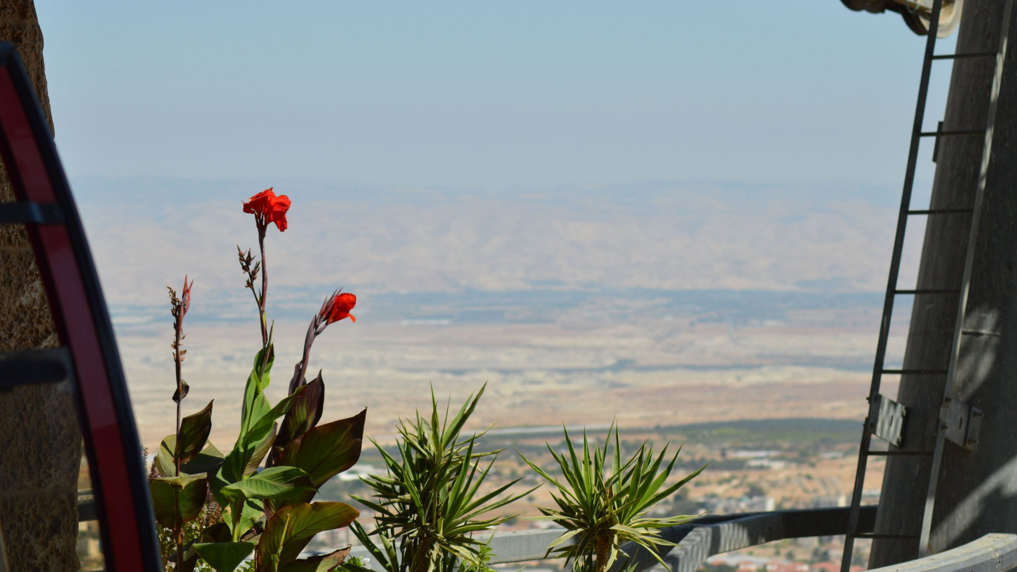 Вид на долину реки Иордан. Палестина