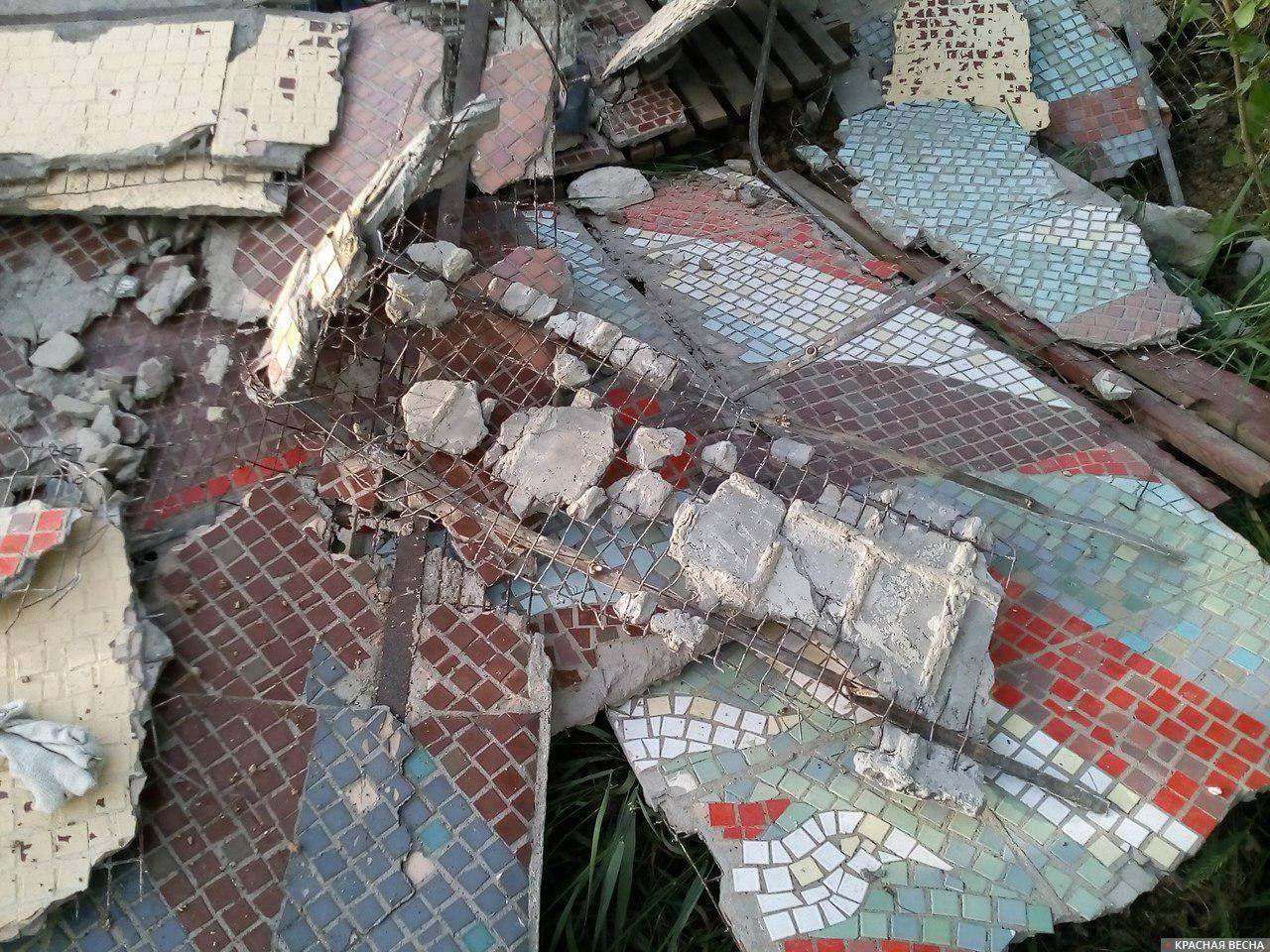 Фрагменты извлеченной мозаики