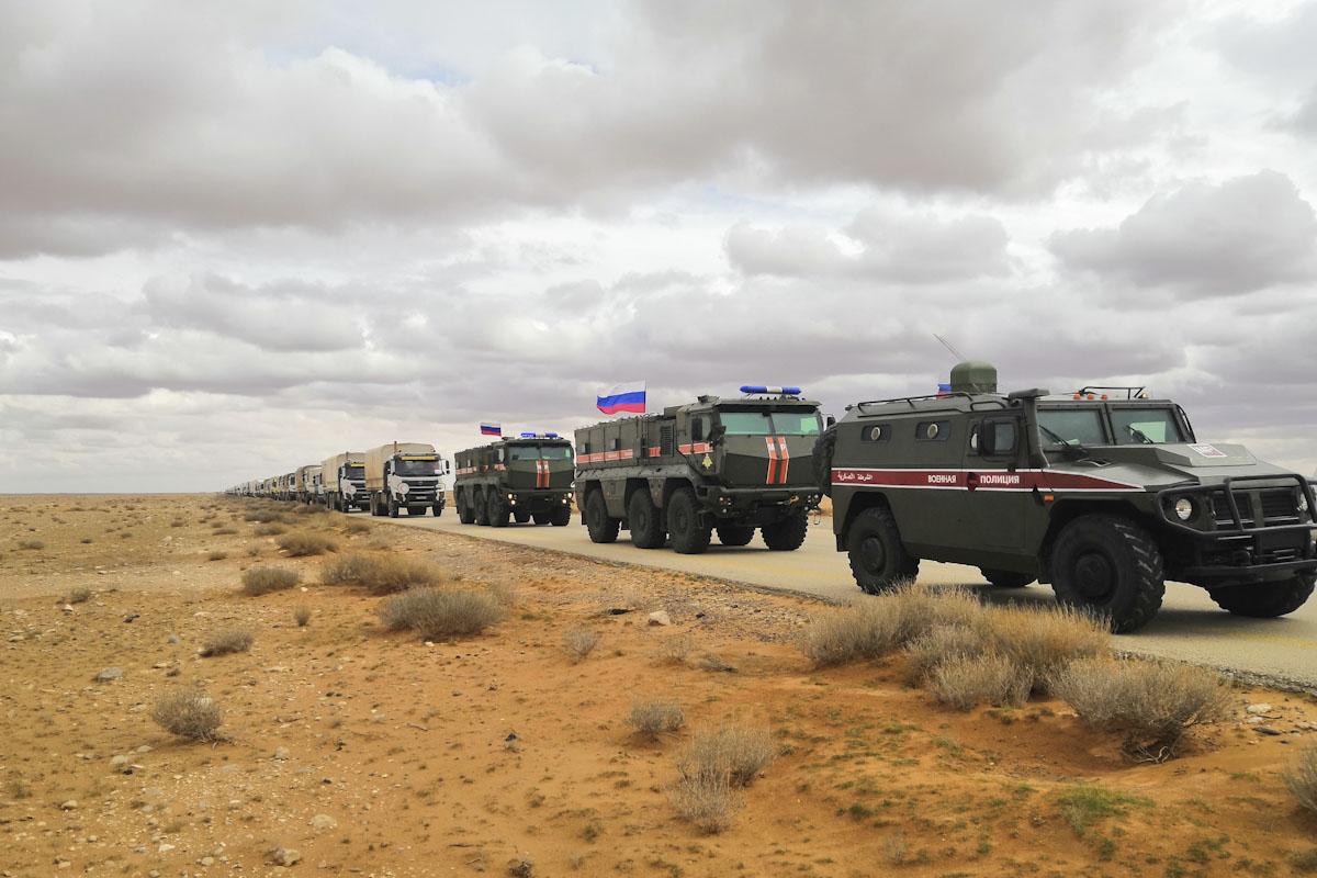 Сопровождение транспортной колонны в Сирии