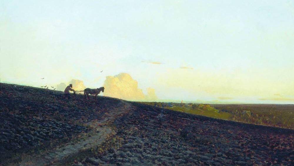 Вечер на пашне. 1883