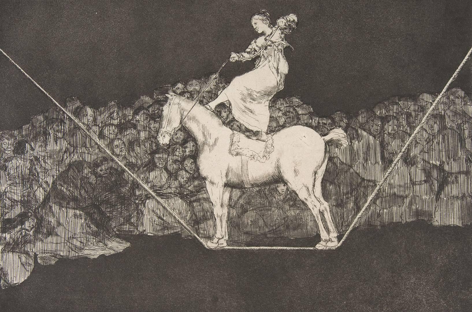 Франсиско Гойя. Серия «Диспаратес (Глупости)». Точная глупость. Ок. 1816–1823