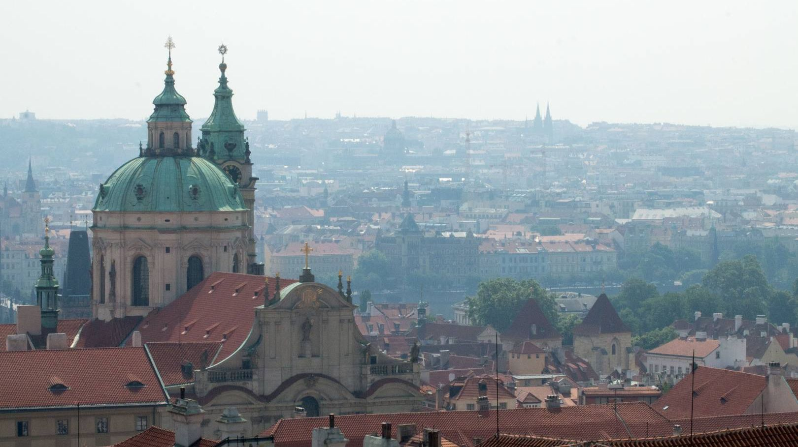 Вид на Прагу. Чехия.