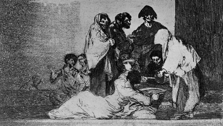 Франсиско де Гойя. Спасибо за чечевицу. 1814