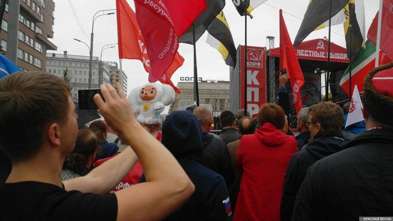 Чебурашка на митинге