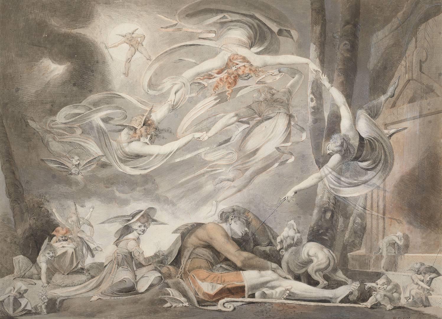Иоганн Генрих Фюссли. Сон пастуха. 1786