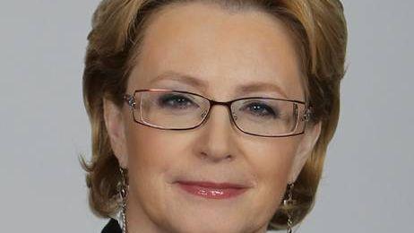 Министр здравоохранения РФ В. Скворцова