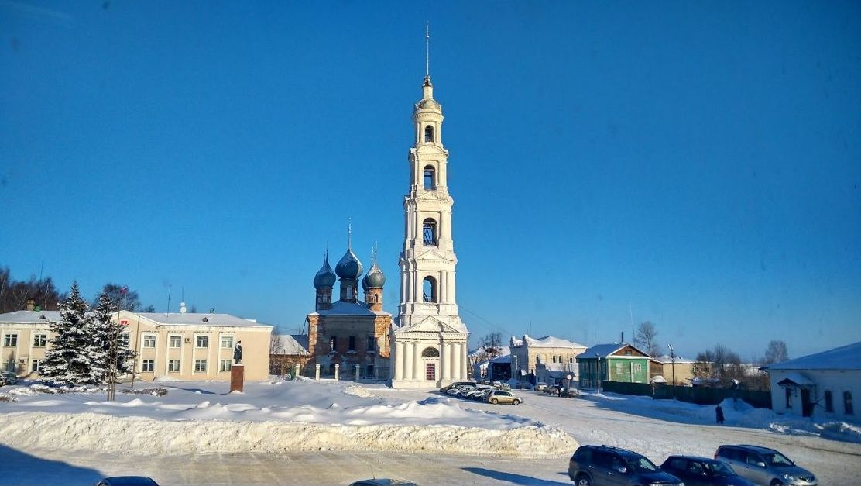 Центральная площадь города Юрьевец
