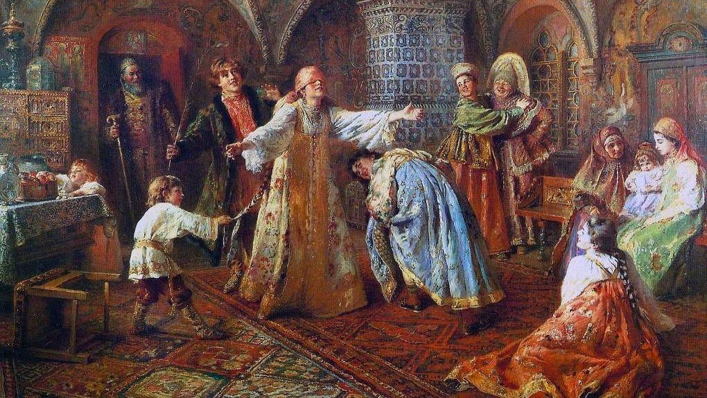 Константин Маковский. Игра в жмурки. 1890