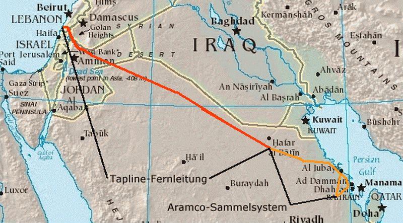 Магистральные трубопроводы. Транс аравийский нефтепровод