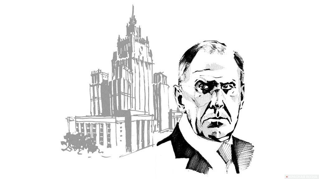 Лавров, здание МИД