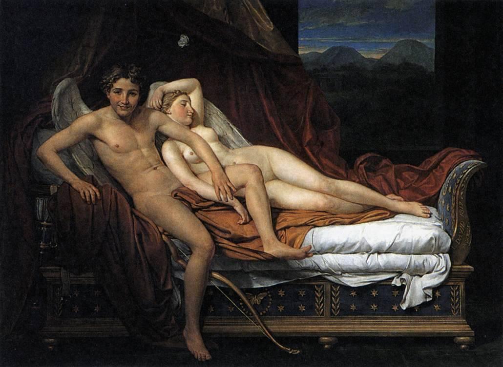 Жак-Луи Давид. Купидон и Психея. 1817