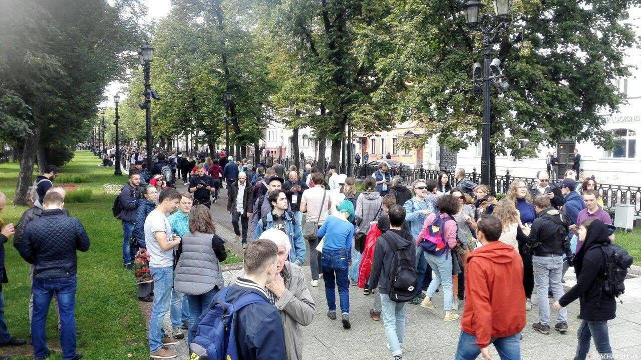 Петровский бульвар до перекрытия
