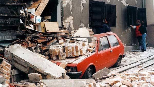 Улицы Белграда, уничтоженные бомбардировкой сил НАТО