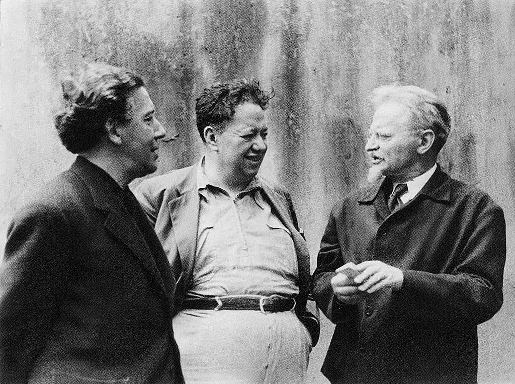 Андре Бретон, Диего Ривера и Лев Троцкий. 1938