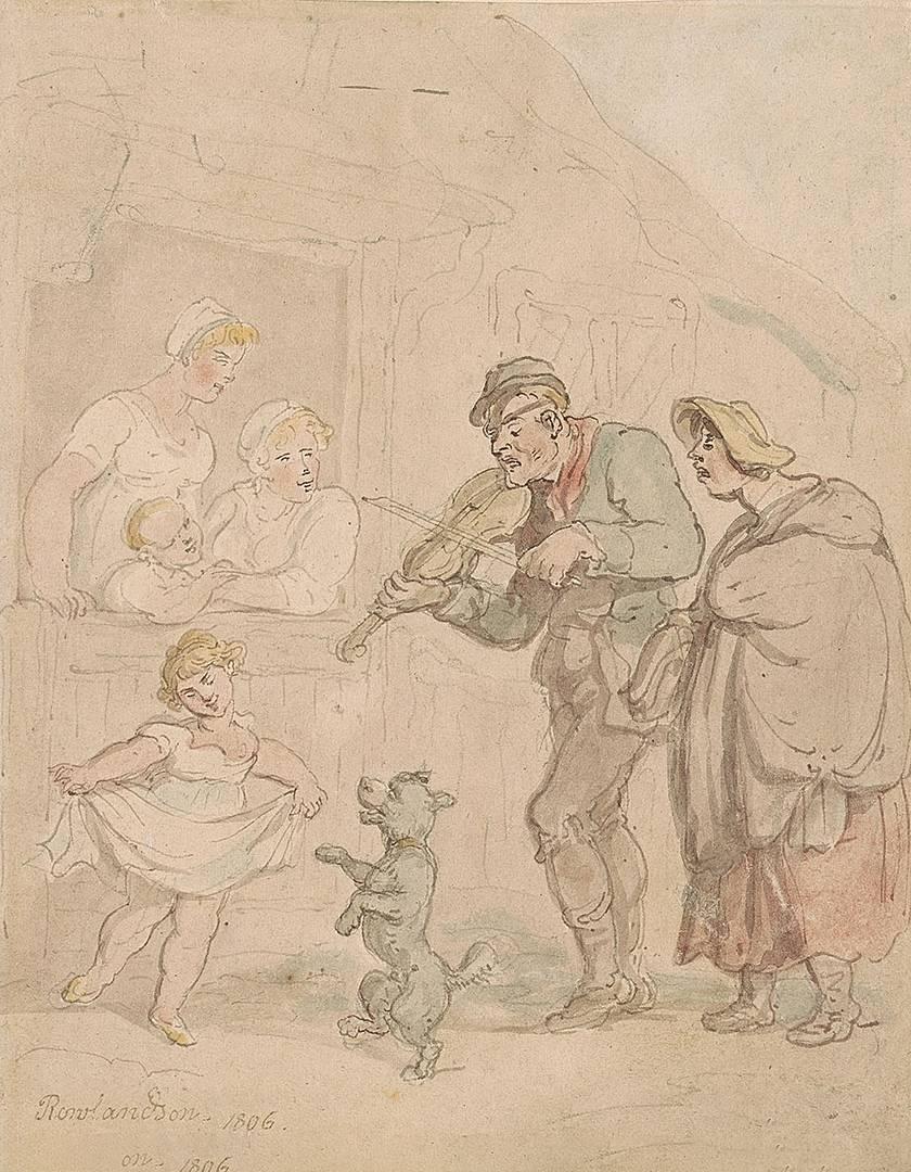 Томас Роулэндсон. Слепой скрипач. 1806
