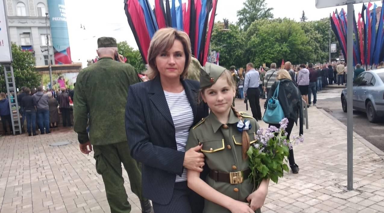 Жительницы Донецка на празднике Победы 9 мая