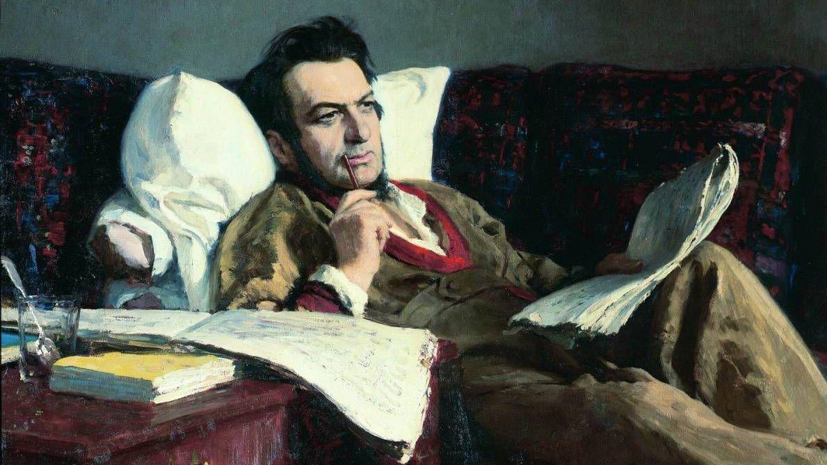 Илья Репин.Михаил Иванович Глинка в период сочинения оперы «Руслан и Людмила». 1887