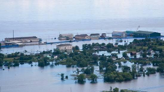 Паводок. Река Амур. 2013