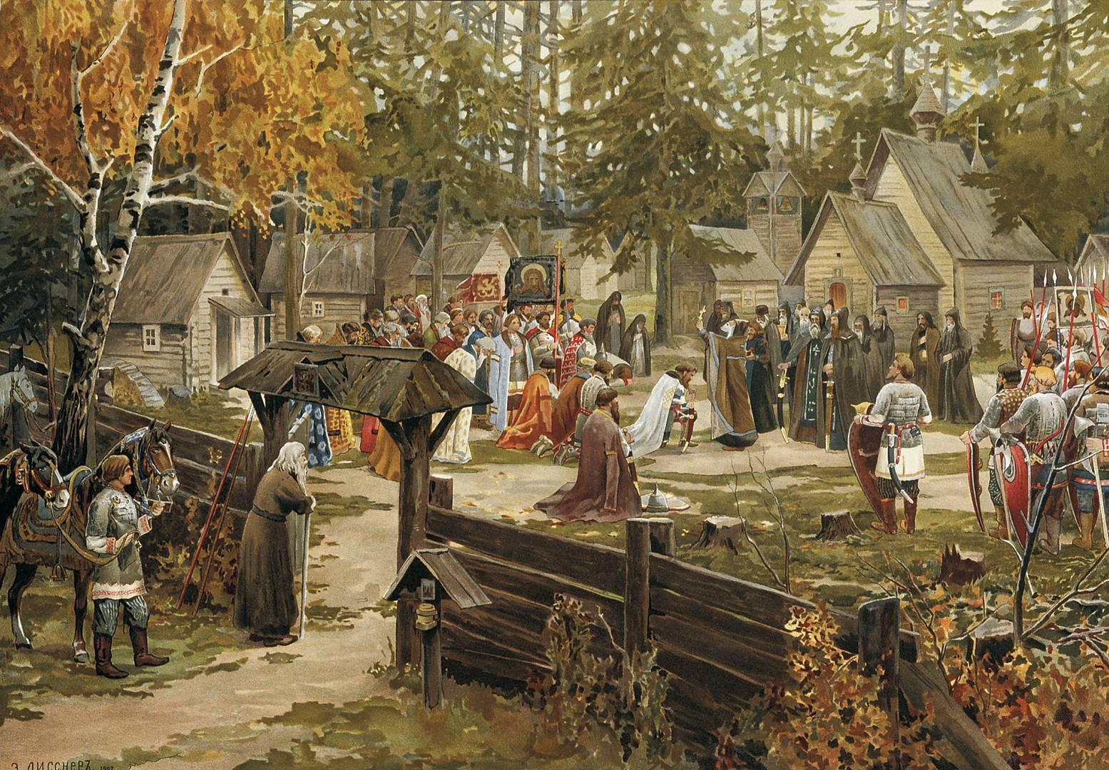 Лисснер Эрнст. Троице-Сергиева лавра. 1907