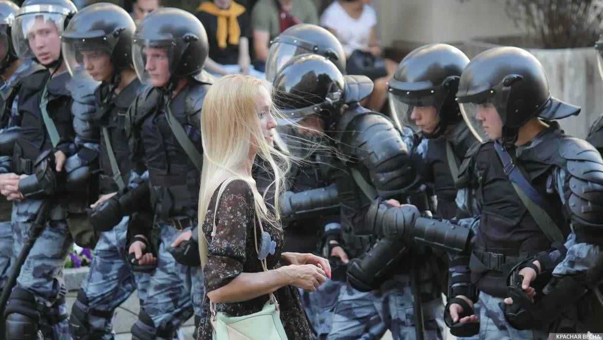 На несанкционированном митинге 27.07.2019 г.