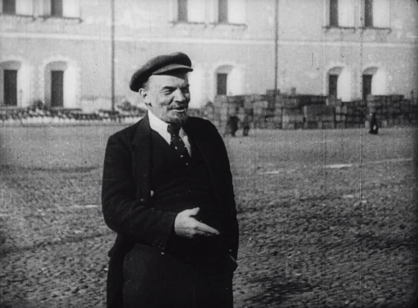 В.И.Ленин.  Кадр из фильма «Годовщина революции»