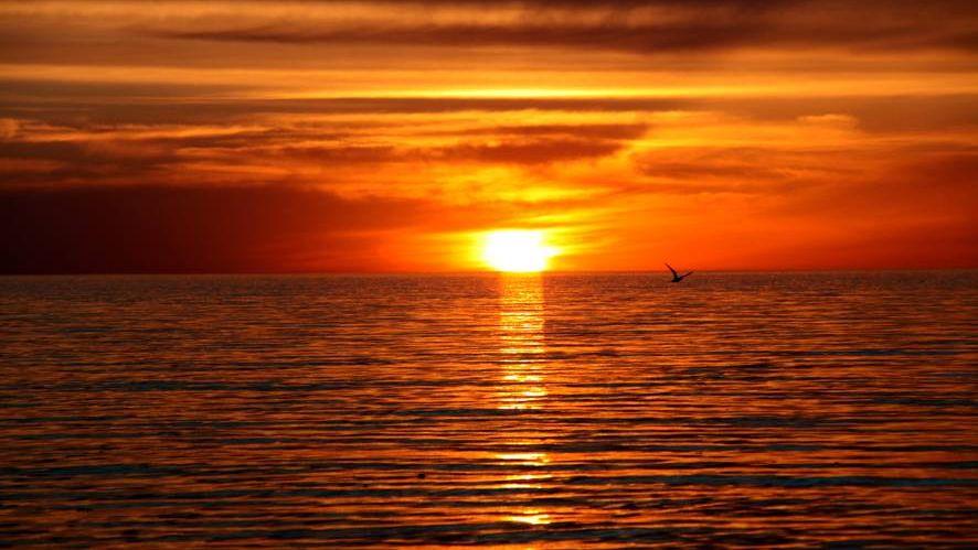 Закат с Актауского побережья