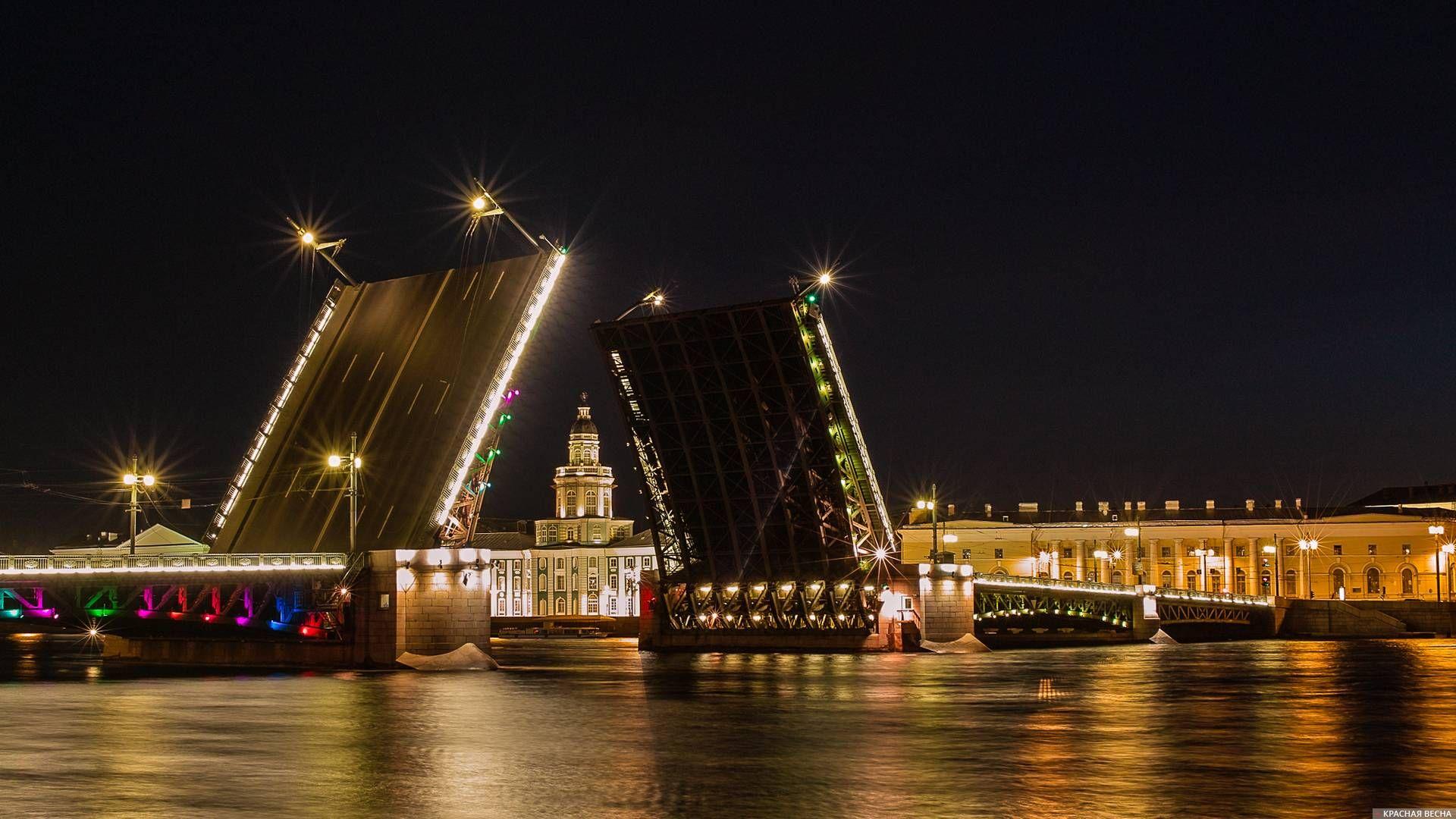 Нева. Дворцовый мост. Санкт-Петербург